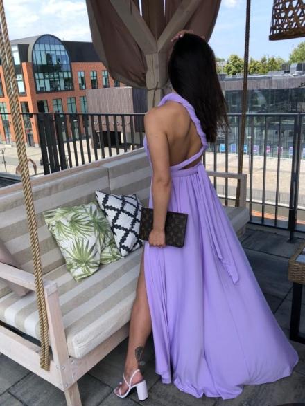 sukienka angel w kolorze lila fioletowa, długa maxi